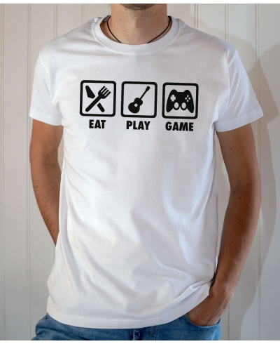 Tee-shirt Game : Eat play (guitare) game