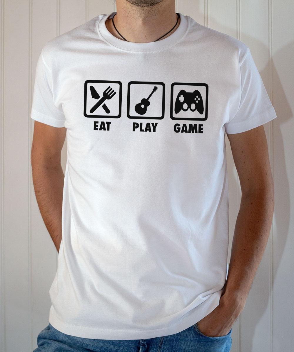 Tee-shirt Game : Eat play (guitare) game