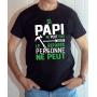 T-shirt Famille : Si Papi ne peut pas le réparer, personne ne peut - Tee-shirt noir homme