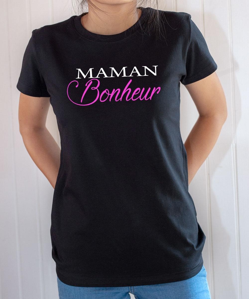 Tee-shirt Famille : Maman bonheur
