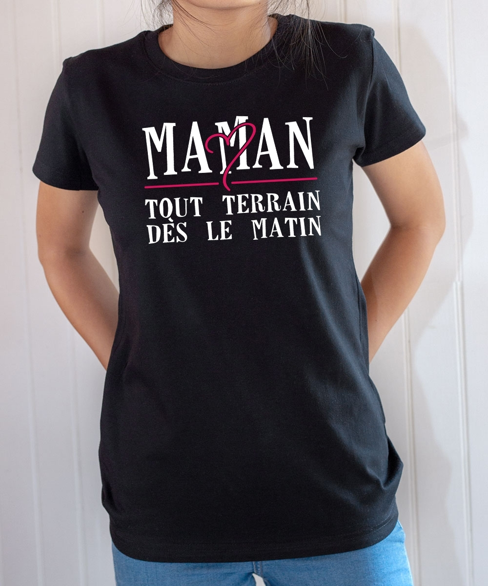 Tee-shirt Famille : Maman tout terrain
