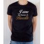 T-shirt OSS 117 : J'aime me beurrer la biscotte (texte) - Tee-shirt noir homme