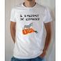 T-shirt OSS 117 : Il s'agirait de grandir (logo) - Tee-shirt blanc homme