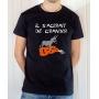 T-shirt OSS 117 : Il s'agirait de grandir (logo) - Tee-shirt noir homme