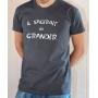 T-shirt OSS 117 : Il s'agirait de grandir (texte) - Tee-shirt gris homme