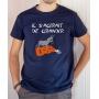 T-shirt OSS 117 : Il s'agirait de grandir (logo) - Tee-shirt bleu marine homme