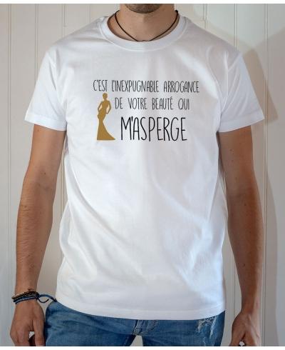 T-shirt OSS 117 : L'inexpugnable arrogance de votre beauté - Tee-shirt blanc homme