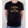 T-shirt OSS 117 : J'aime me battre (texte) - Tee-shirt noir homme