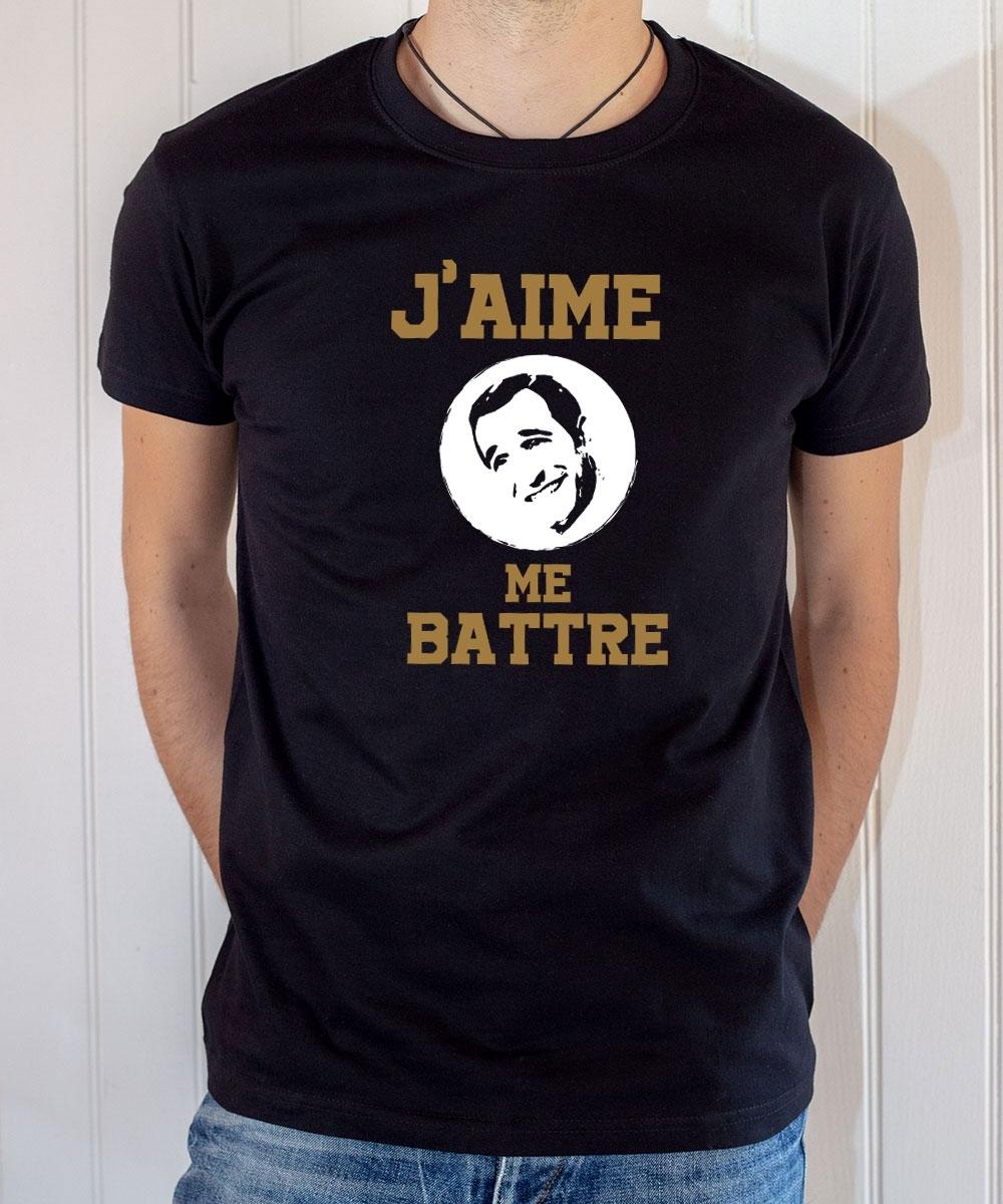 T-shirt OSS 117 : J'aime me battre (logo Dujardin) - Tee-shirt noir homme