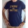 T-shirt OSS 117 : J'aime me battre (texte) - Tee-shirt bleu marine homme