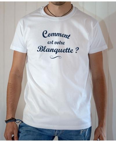T-shirt OSS 117 : Comment est votre blanquette - Tee-shirt blanc homme
