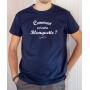 T-shirt OSS 117 : Comment est votre blanquette - Tee-shirt bleu marine homme
