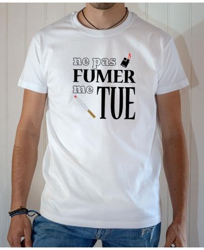 T-shirt OSS 117 : Ne pas fumer me tue - Tee-shirt blanc homme