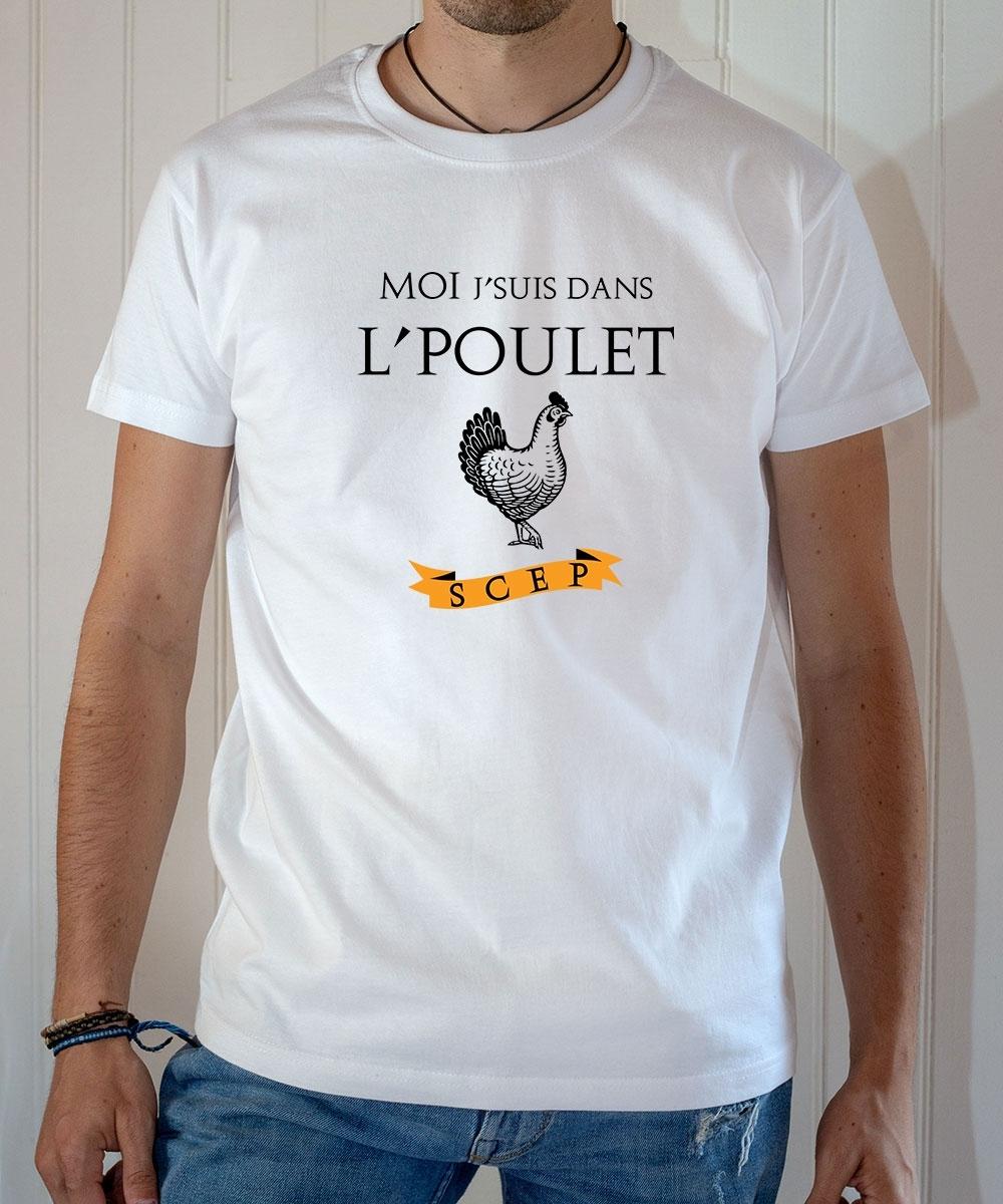 T-shirt OSS 117 : Moi j'suis dans le poulet - Tee-shirt blanc homme