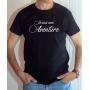 T-shirt OSS 117 : Je suis une Aventure (Texte) - Tee-shirt noir Homme