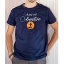 T-shirt OSS 117 : Je suis une Aventure (Logo OSS) - Tee-shirt bleu marine Homme