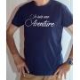 T-shirt OSS 117 : Je suis une Aventure (Texte) - Tee-shirt bleu marine Homme
