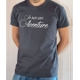 T-shirt OSS 117 : Je suis une Aventure (Texte) - Tee-shirt gris Homme