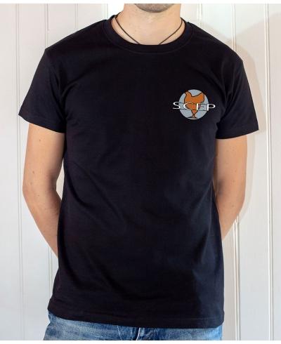 T-shirt OSS 117 : Logo SCEP (Société Cairote d'Élevage de Poulets) - T-shirt noir homme