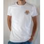 T-shirt OSS 117 : Logo SCEP (Société Cairote d'Élevage de Poulets) - T-shirt blanc homme