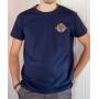 T-shirt OSS 117 : Logo SCEP (Société Cairote d'Élevage de Poulets) - T-shirt bleu marine homme