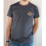 T-shirt OSS 117 : Logo SCEP (Société Cairote d'Élevage de Poulets) - T-shirt gris homme