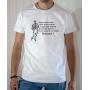 T-shirt OSS 117 Macron : Avoir un diplôme - Tee-shirt blanc homme