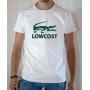 T-shirt humour parodie Lacoste : Lowcost (Squelette de crocodile vert) - Tee-shirt banc homme