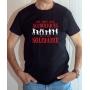 T-shirt Humour : Mes potes sont alcooliques, moi je suis solidaire - Tee-shirt noir homme