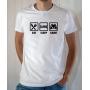 T-shirt Humour : Eat Sleep Game - Tee-shirt blanc homme