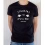 T-shirt Pêcheur Humour : J'peux pas j'ai Pêche - Tee-shirt noir homme
