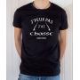 T-shirt Chasseur Humour : J'peux pas j'ai Chasse - Tee-shirt noir homme