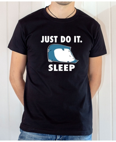T-shirt parodie Nike : Just Do It Sleep (Avec Ronflex / Snorlax) - Tee-shirt noir homme