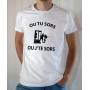 T-shirt Dikkenek : Ou tu sors ou j'te sors - Tee-shirt François Damiens homme blanc