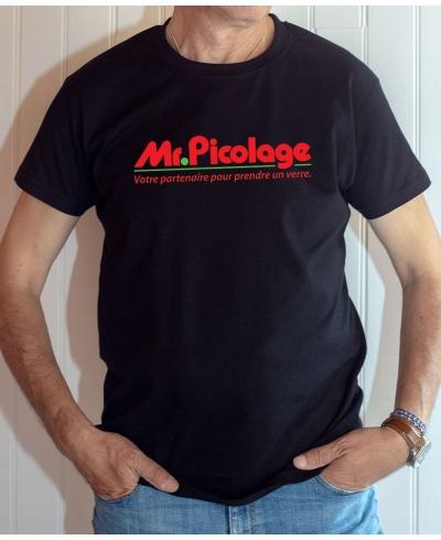 T-shirt humour : Mr. Picolage, votre partenaire pour prendre un verre - Tee-shirt homme noir