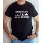 T-shirt Moto : Motard un jour, motard toujours - Tee-shirt noir homme