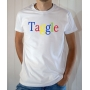 T-shirt humour : Taggle (Parodie Google) - Tee-shirt homme blanc