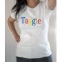 T-shirt humour : Taggle (Parodie Google) - Tee-shirt femme blanc