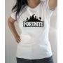 T-shirt Jeux Vidéo : Logo Fortnite - Tee-shirt femme blanc