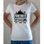 T-shirt Jeux Vidéo Fortnite : Eat Sleep Game - Tee-shirt femme blanc