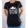 T-shirt Jeux Vidéo Fortnite : Eat Sleep Game - Tee-shirt femme noir