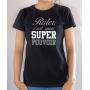 T-shirt Humour : Râler c'est mon Super Pouvoir - Tee-shirt femme noir