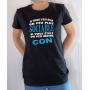 T-shirt Humour : Je serais plus sociable si vous étiez moins con - Tee-shirt femme noir