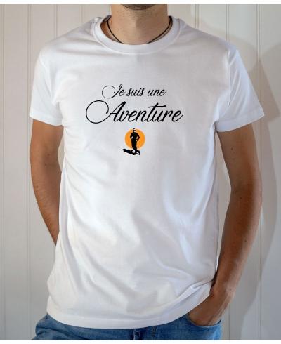 T-shirt OSS 117 : Je suis une Aventure (Logo OSS) - Tee-shirt blanc Homme