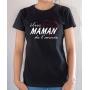 T-shirt Famille : Élue Maman de l'année - Tee-shirt femme noir