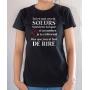 T-shirt Humour & Famille : Toi et moi on est sœurs - Tee-shirt femme noir