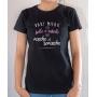 T-shirt Humour : Mieux vaut être belle et rebelle que moche et remoche - Tee-shirt femme noir