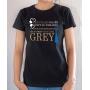 T-shirt Humour : Les filles sages vont au paradis, les autres vont chez Grey - Tee-shirt femme noir