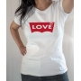 T-shirt Parodique Levis : Love - Tee-shirt femme blanc