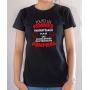 T-shirt Pompier Humour : Toutes les femmes naissent égales mais les meilleures deviennent pompiers - Tee-shirt noir femme